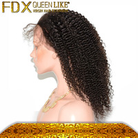 wholesale 18 inches human hair lace front wigs for black women