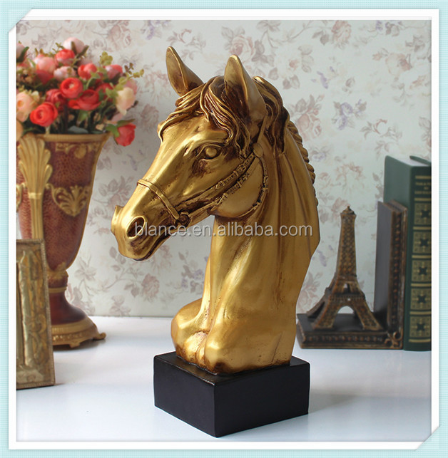 hot selling resin large horse head sculpture for Tabletop horse Figurine