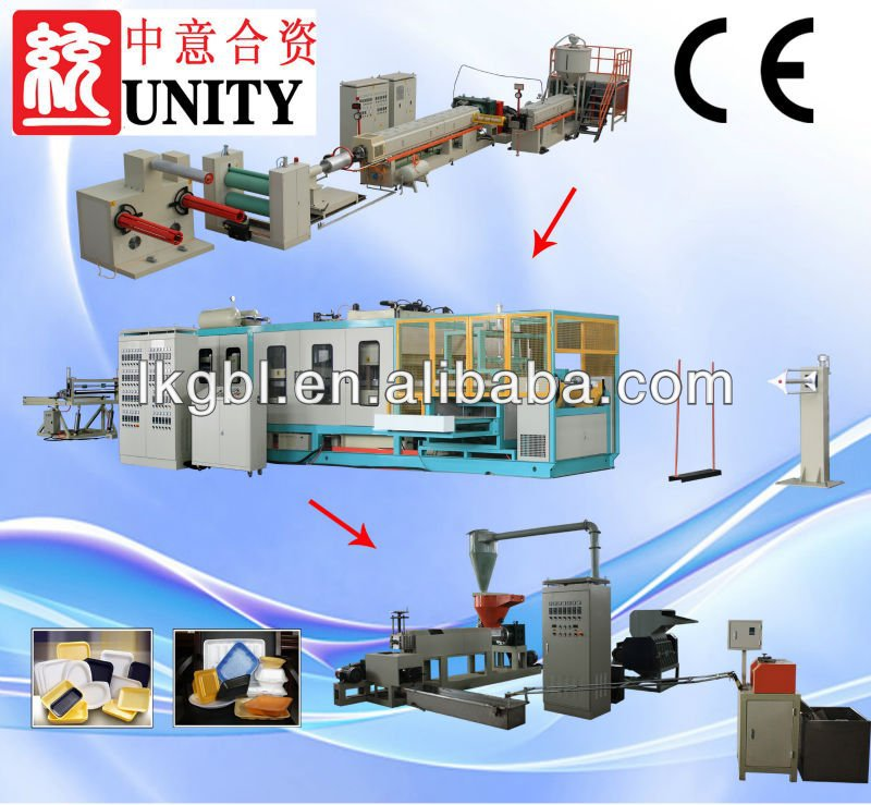 PS fast food box machine/fast food container production line/Disposable lunch box production line