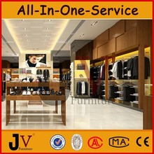 (Free design)garment shop interior design with clothes cabinet