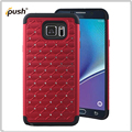 new fashion stick diamond 2 in 1 tpu pc combo case for Samsung galaxy note 5