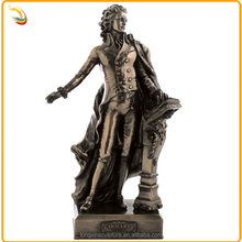 Modern Famous Musician Bronze Mozart Sculpture For School Decoration