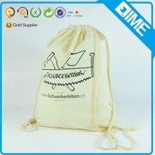 Cinch Sack Custom Organic Cotton Drawstring Bag Shoe Bag For Promotion