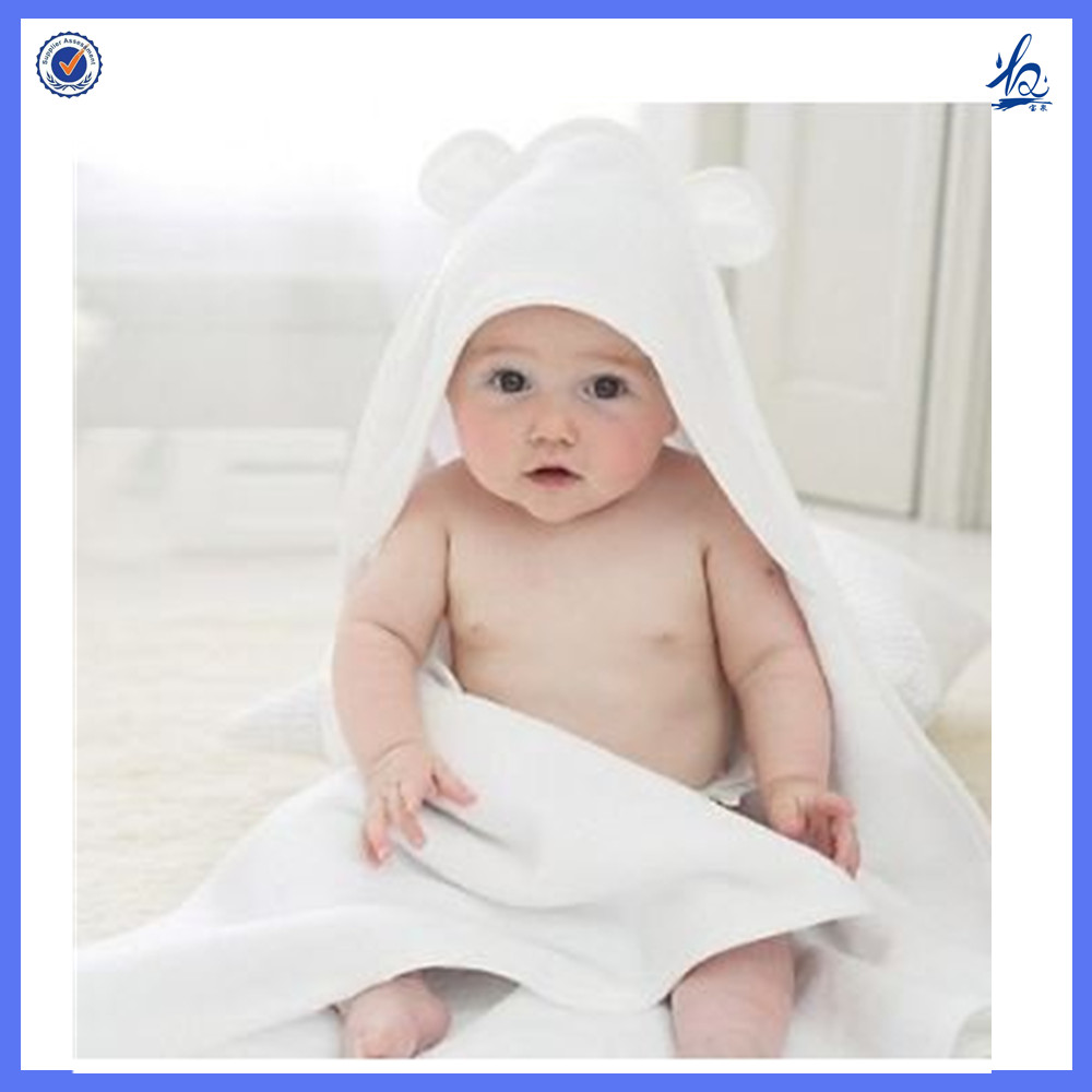 Super Soft hot selling 100% organic bamboo fiber Baby bath blankets with hood