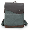 Latest Unique Design Sky Blue Canvas College School Backpack Bags Racksack For Teenager