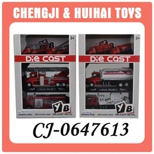Diecast models pull back fire fighting truck alloy toys