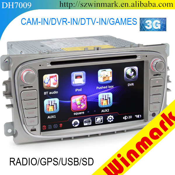 Winmark Car Audio DVD GPS Player 7 Inch Double Din With Touch Screen GPS Bluetooth Radio For FORD Mondeo 2007-2011 DH7009
