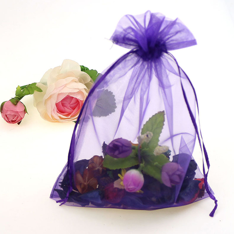 Hot S 100pcs Lot Classic 17x23cm Dark Purple Organza Gift Bags Small Drawstring Bag Wedding Favors Tulle In Price On M Alibaba