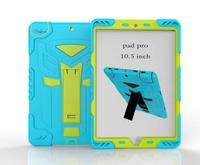 PC TPU Combo shockproof cover case for apple ipad Pro 10.5 case with screen protector