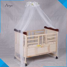 Luxury wooden new born color optional hospital foldable cardboard cot models with changing table baby furniture cost-effective