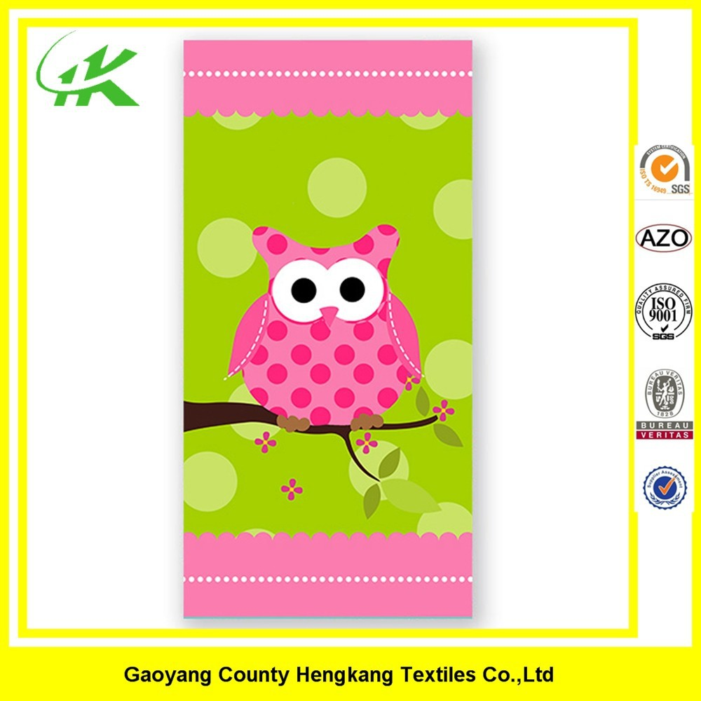 Cute Printed Soft Cotton Custom Beach Towel Manufacturer For Children