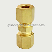 Staight coupling brass compression fittings