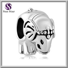 popular fashion jewelry in europe silver elephant charm