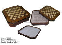 WINSTIN Drawer Storage Design Wooden Box Chess Board Game Set