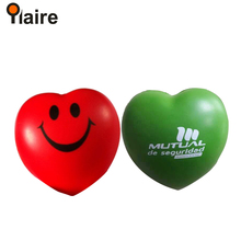 Hot sale heart shape pu anti stress balls with custom logo