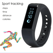 Sport Tracker i5 Plus Smart Watch IP67 OLED TPU Bluetooth Band Multifuctioal Intelligent Bracelet for IOS / Android Smartphone