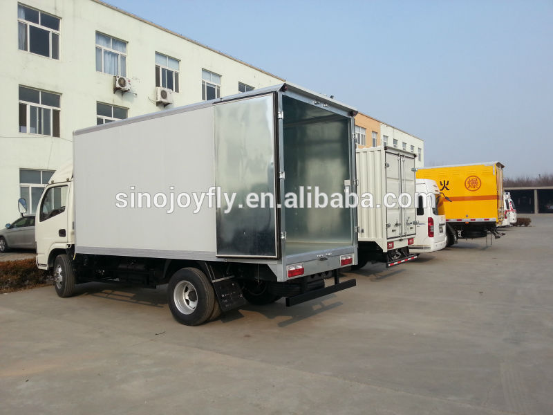 refrigerated van body/truck van bodies/van body wing opening cargo box cloaed truck body 10 ton dump truck