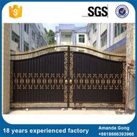 Cheapest Price Simple Design Wrought Iron Grill Gate