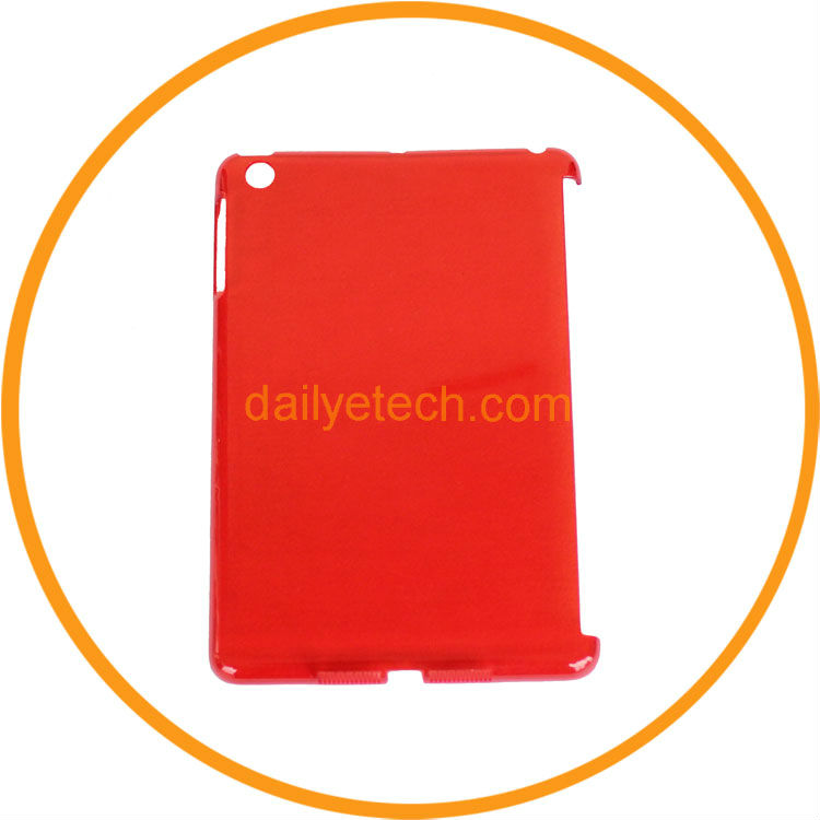 Crystal Slim Hard Plastic Back Smart Cover Case for iPad mini red from dailyetech