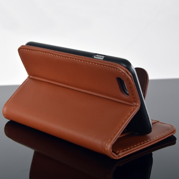 China Wholesale Customized Hard Mobile Wallet Leather Case for iphone 6
