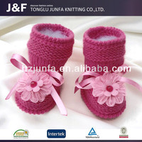 Winter soft China manufacturer wholesale baby shoes,crochet baby shoes