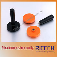 rubber coated pot neodymium magnet