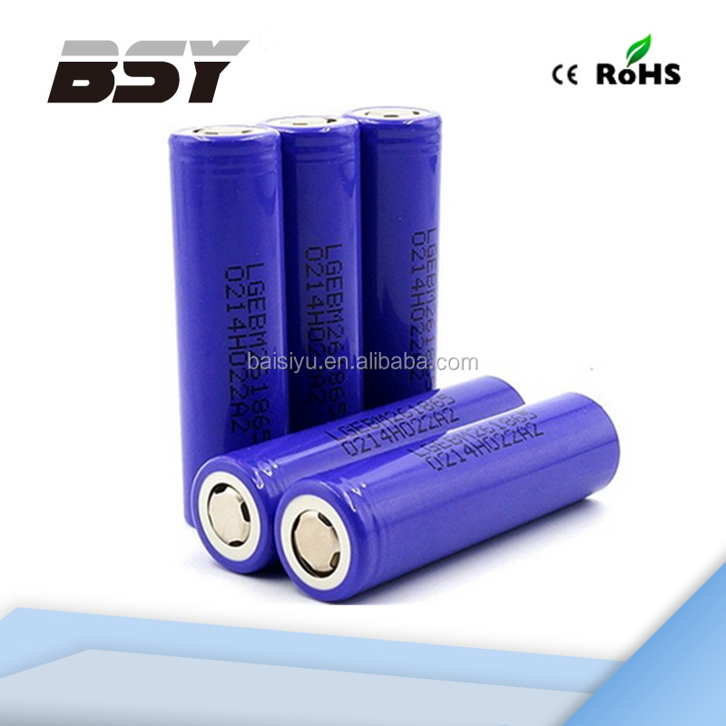 LG M26 New consumer electronics 2600mah 10amp battery for electric bicycle wholesale