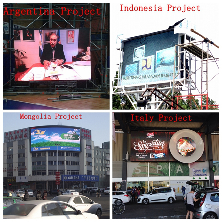 FOXGOLDEN outdoor high brightness p10 street advertising led display screen