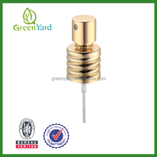 20/410 ALU. Mental Sliver Golden Factory Perfume Crimp Pump Crimp Pump screw perfume spray head metal perfume atomizer 0.12cc