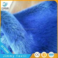 luxurious artificial fox fur black tip-discharge blue faux fur fake fur fabric