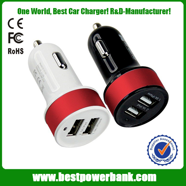 Best dual usb car charger 12v 2.1a car and travel cell phone charger