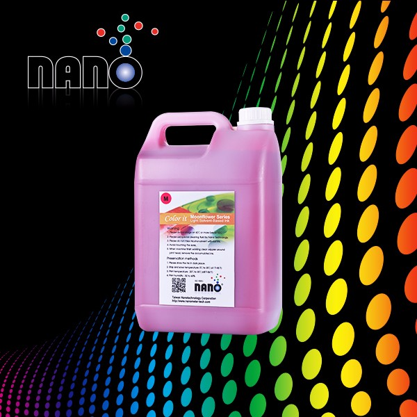 Soft material using nano coating for mild solvent printing ink