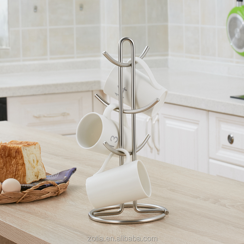 Hot Sale metal mug holder cup display rack ceramic cup holder coffee mug storage rack