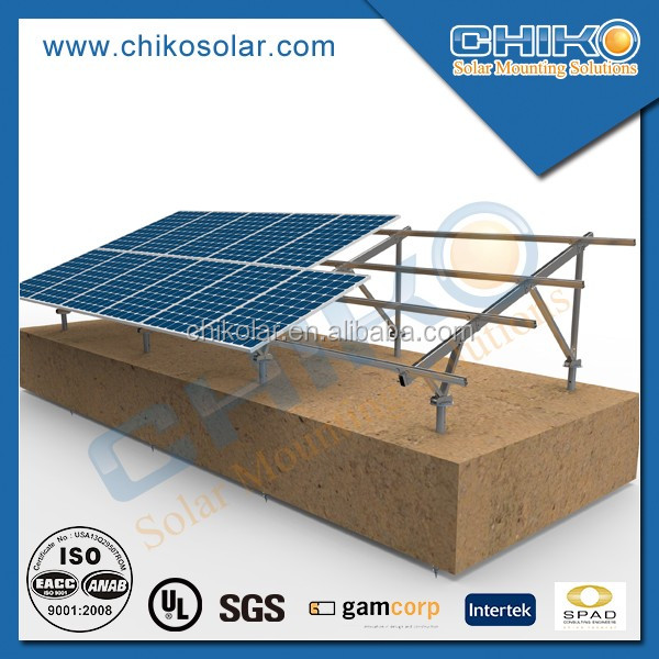 Ground screw solar panel mounting / solar mounting installation