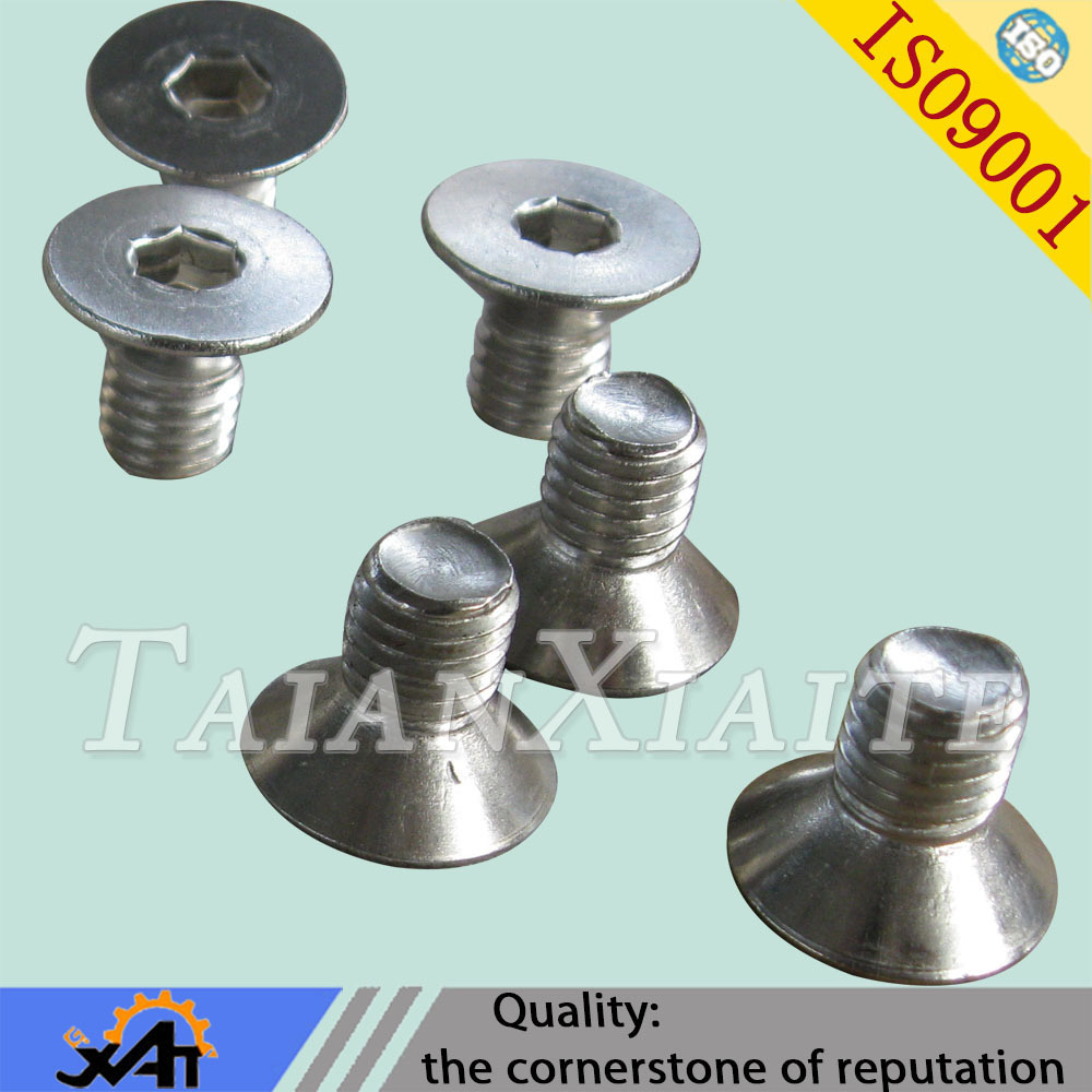 304 stainless steel made in china standard <strong>M10</strong>*16 countersunk treaded <strong>hex</strong> socket <strong>screws</strong> stock wholesale