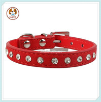 Hot Sale Pet Products 1 Row Rhinestone Crystal Dog Cat Collars