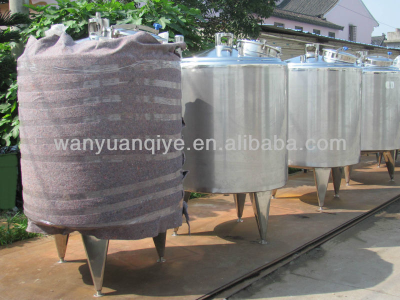 cooling and heating tank mixing vessel