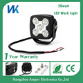 Factory price 50w ip67 pc lens led work light weatherproof led car extra lights
