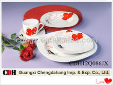 Valentine ceramic tableware dinner set