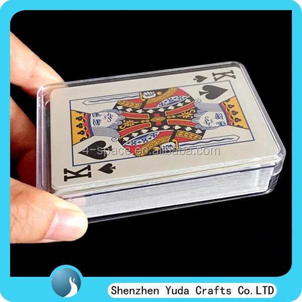 plastic die cast package gift box clear ps material playing card and name card storage box