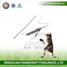 BSCI QQ Catoy Factory cat toys interactive wand retractable feather cat toys