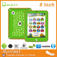 kids tablet pc of 8 inch dual core rockchip processor for pre education children