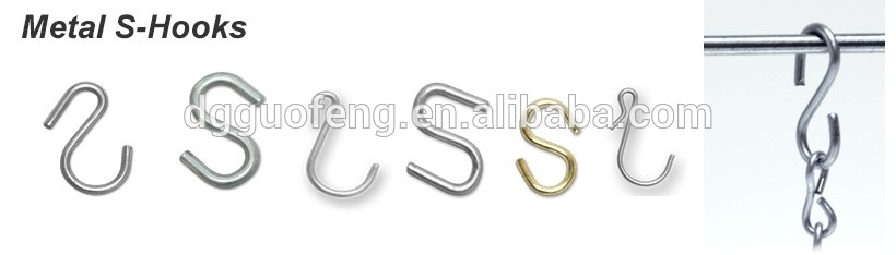 Stainless S Hook with different size /Plastic Coated S Hook/Metal S Hooks for hanging