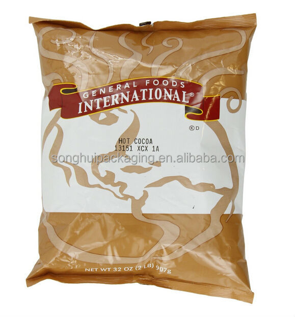 Hot cocoa packing bag/ Mid-seal cocoa bag / Cocoa packing bag