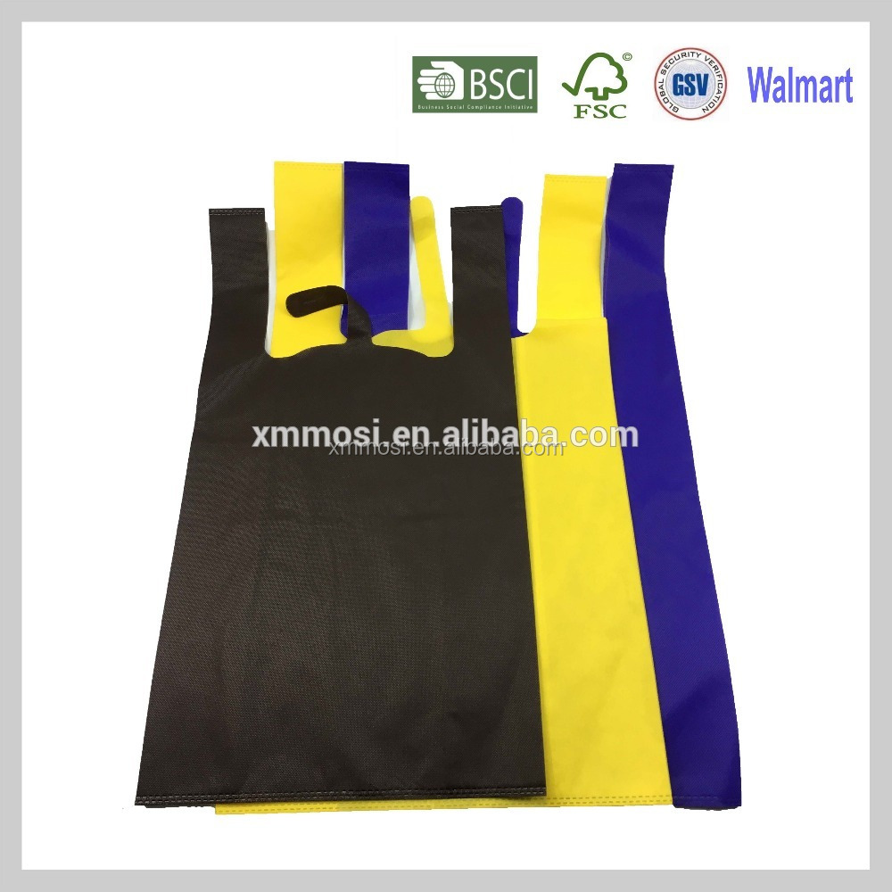 40gsm vest non woven shopping bags making machine instead of plastic vest bag