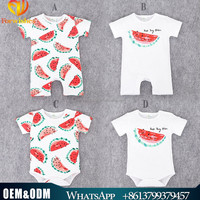 Summer New Style Boutique Design Pure Cotton Wearing Cute Watermelon Toddler Rompers