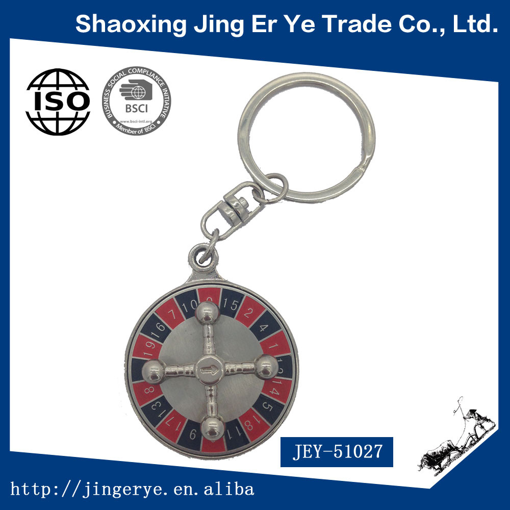 High Selling OEM Promotional Round Metalic Compass Keychain