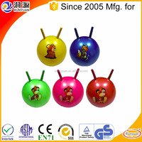 ecofriendly PVC toy jumping ball with handle