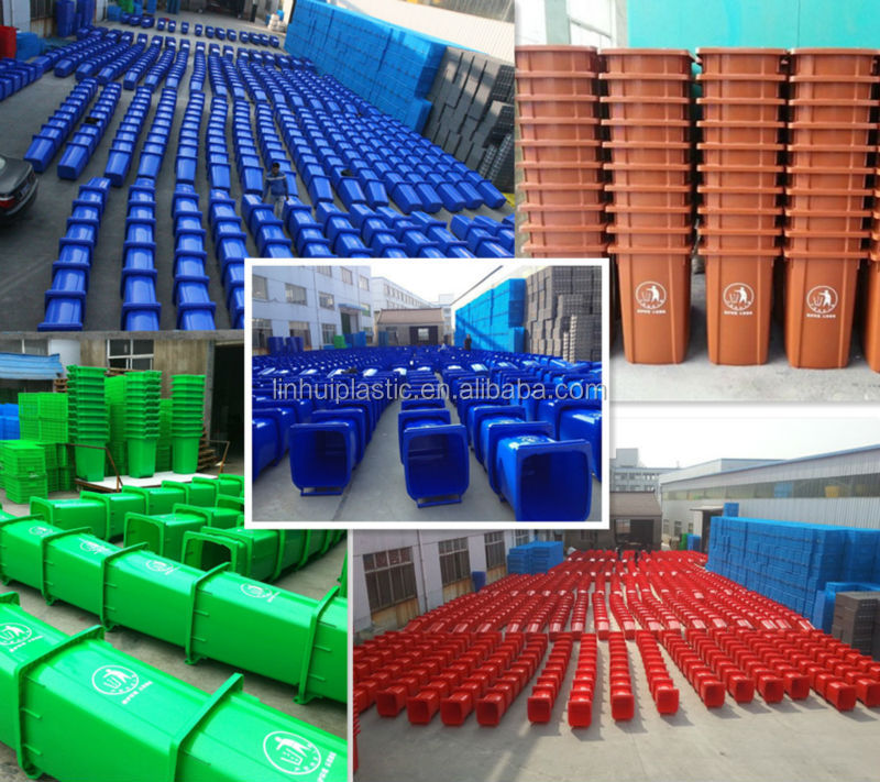 120 Liter plastic injected roll waste bin