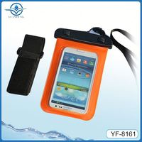 2014 newest universal waterproof case with armlet for 4.5~5.3 inch mobile phone